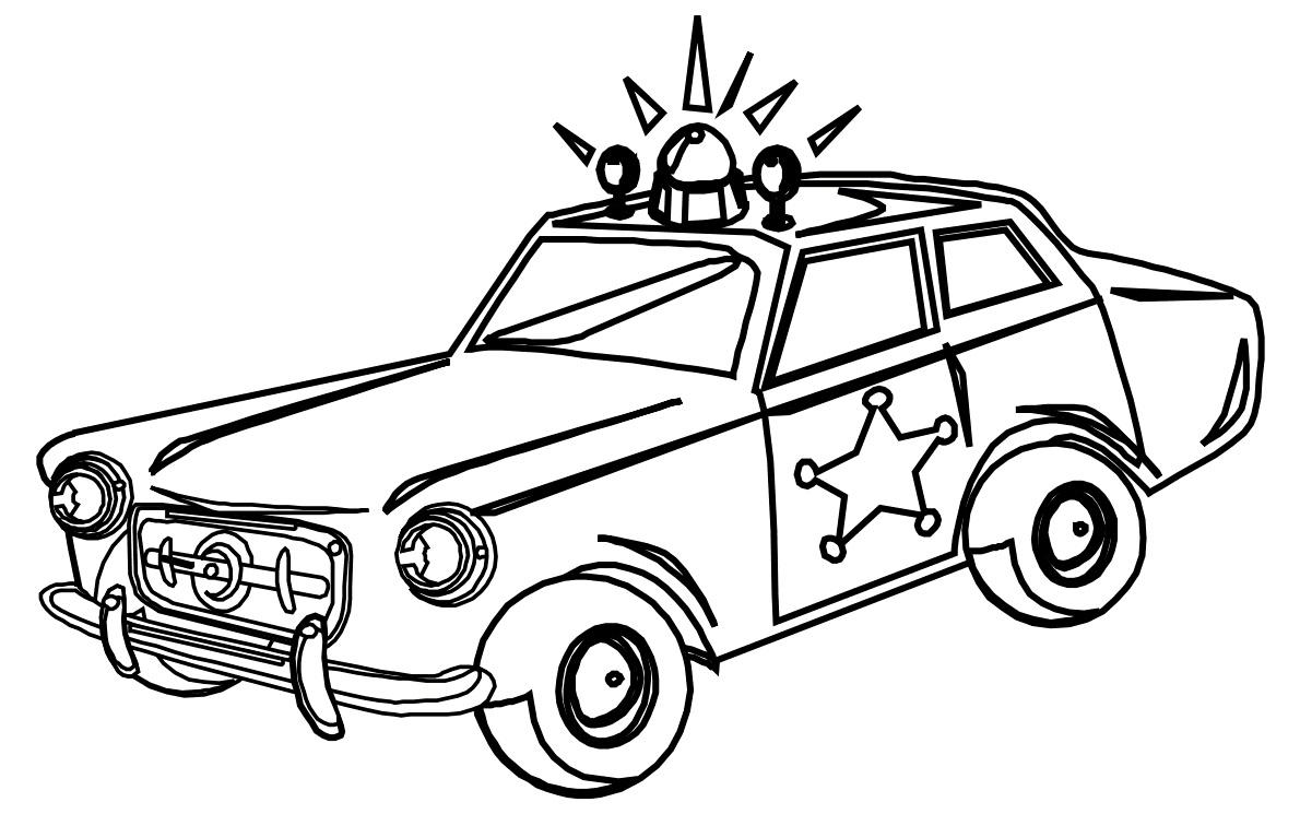 Раскраска Машина шерифа распечатать или скачать бесплатно