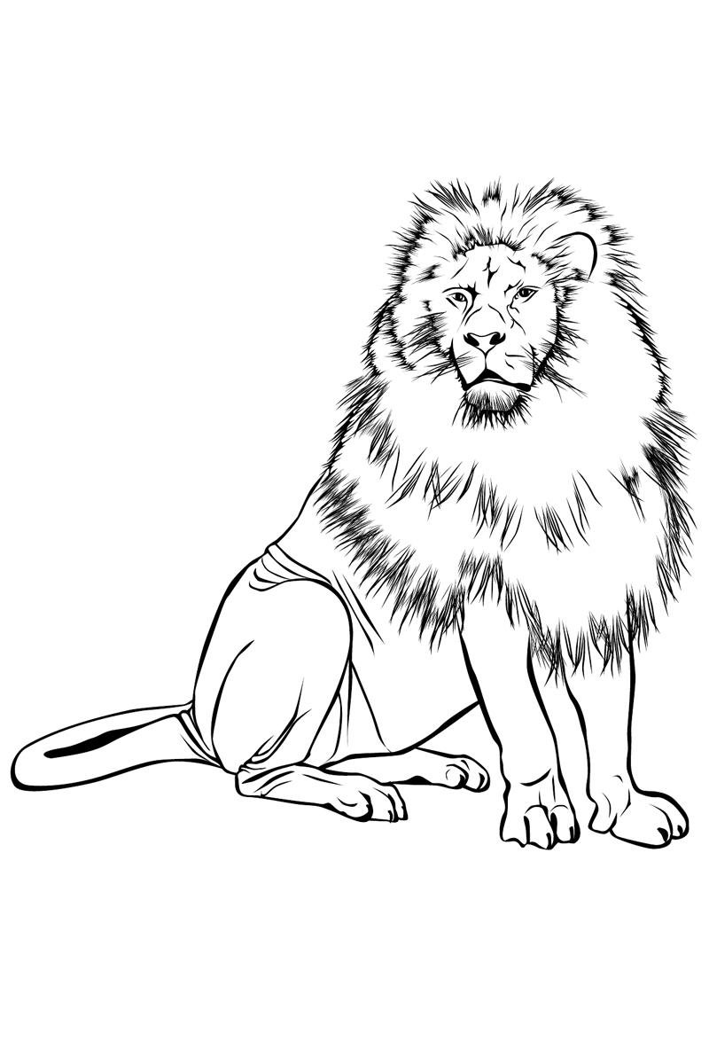 чистом лев и собачка картинка печать попробовать своему
