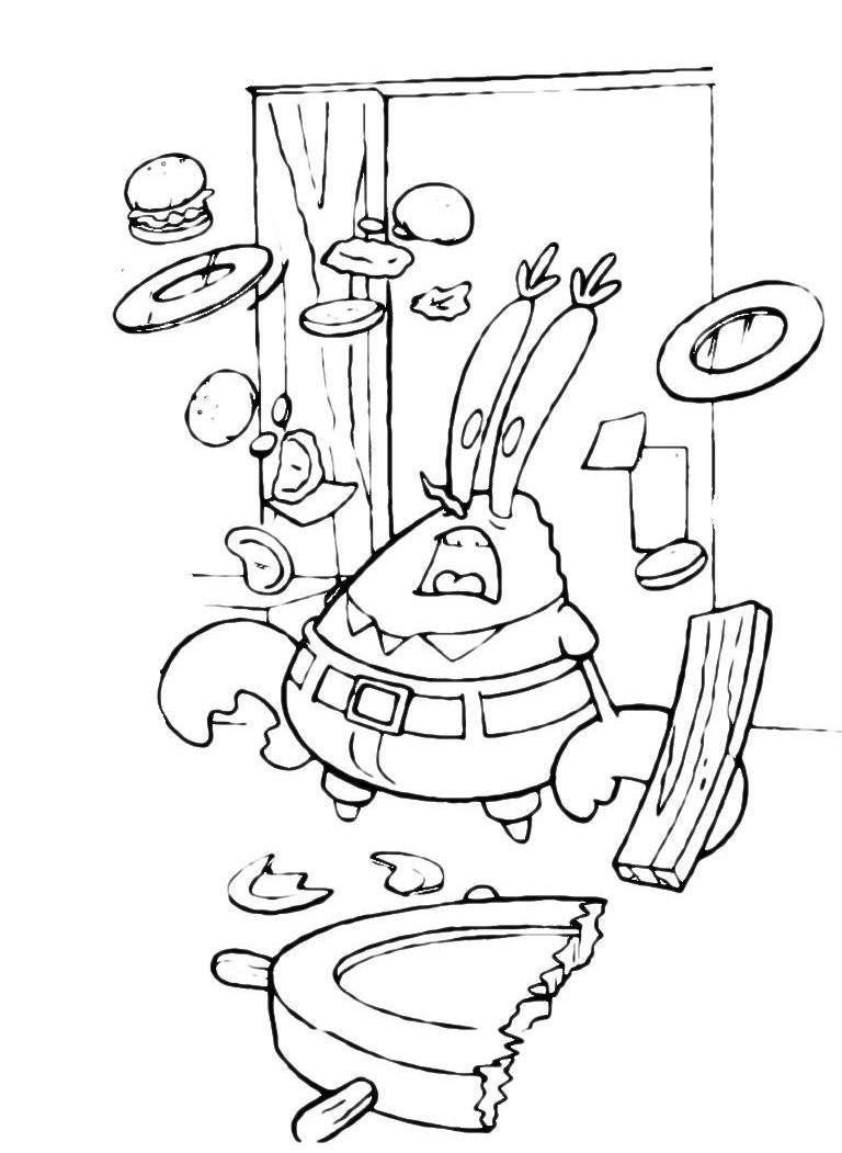 Раскраска Губка Боб поварёнок распечатать или скачать ...