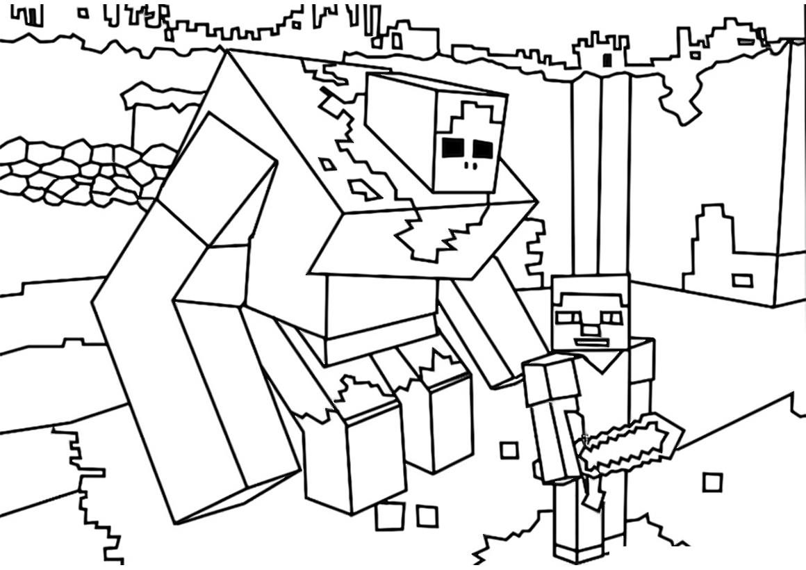 Раскраска Робот и Стив распечатать или скачать бесплатно