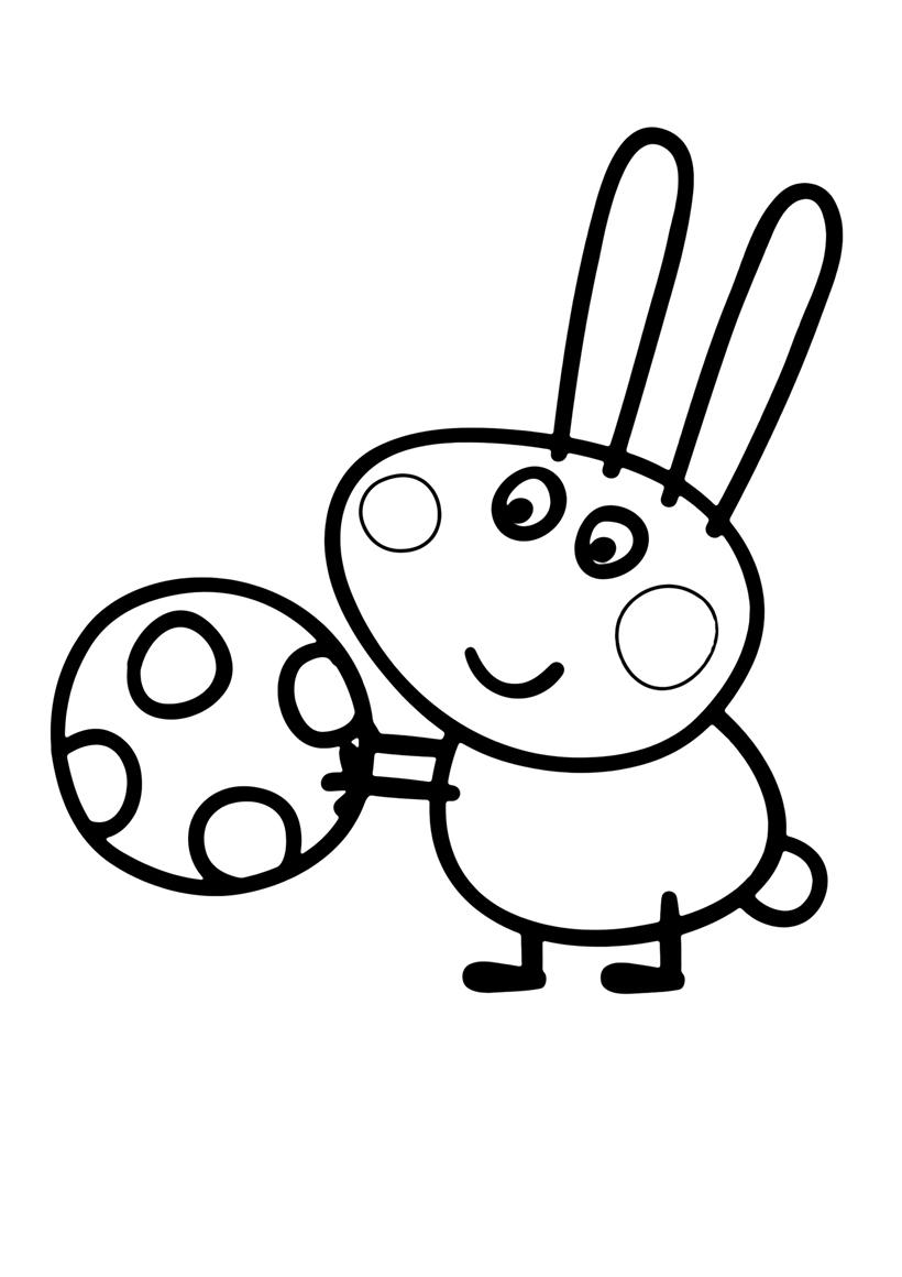 Раскраска Кролик Ричард распечатать или скачать бесплатно