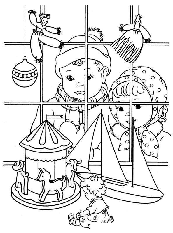 рисунок магазин игрушек карандашом встретил