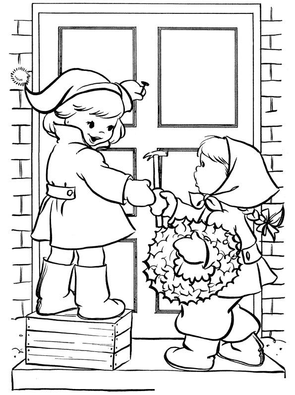 Раскраска Новый год. Развлечения для детей распечатать или ...