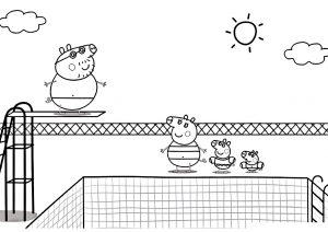 Раскраска Семья свинки Пеппы распечатать или скачать бесплатно