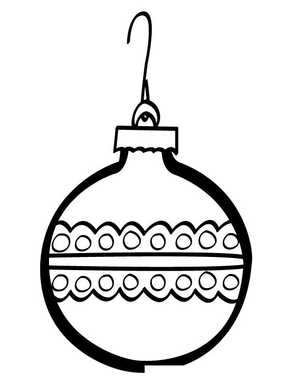 Раскраска Елочный шар с арнаментом распечатать или скачать ...