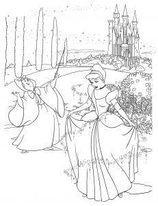 Раскраска Принцесса Аврора распечатать или скачать бесплатно