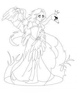 Раскраска Принцесса Русалочка с друзьями распечатать или ...