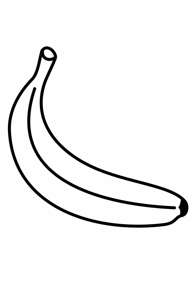 Раскраска Банан распечатать или скачать бесплатно