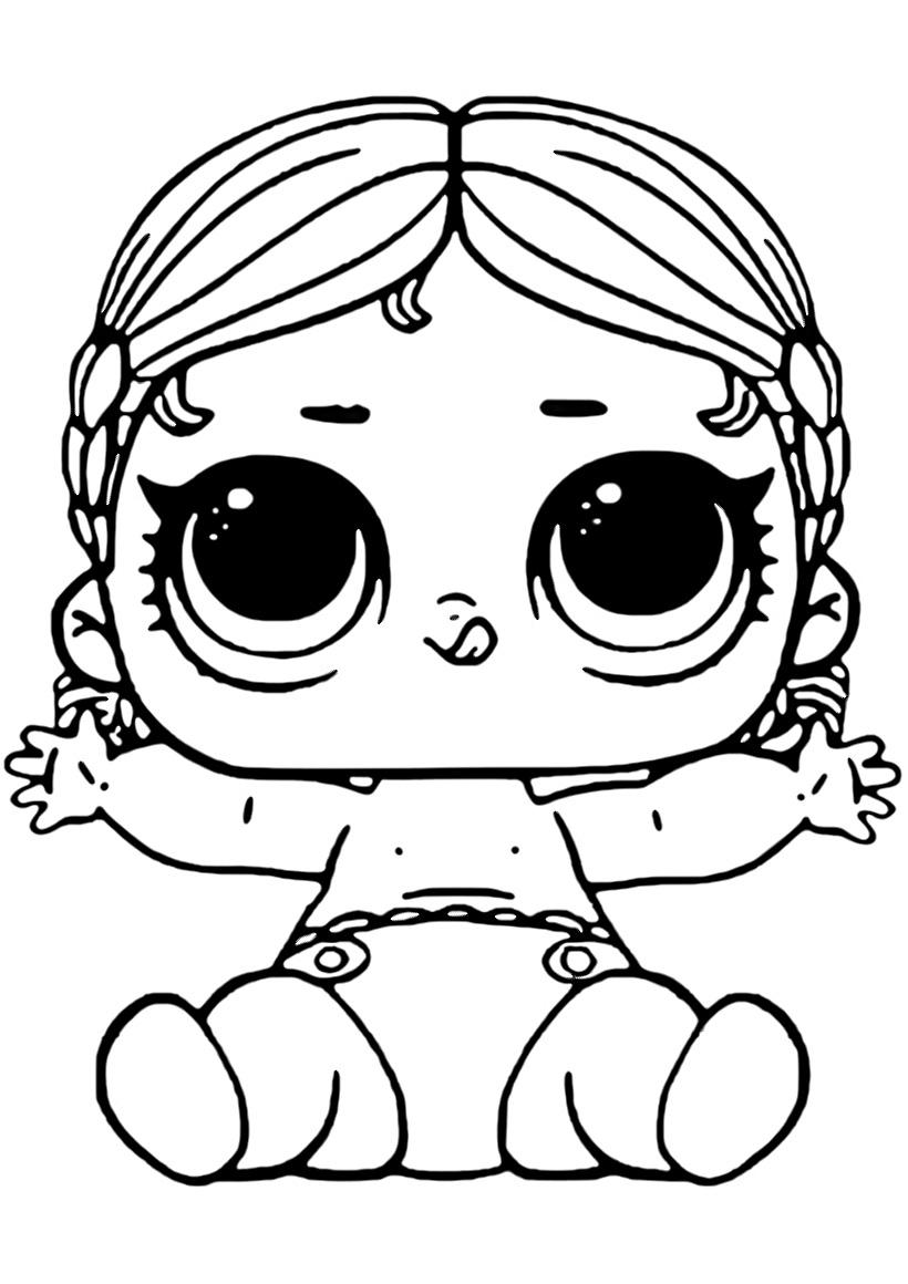 Раскраска ЛОЛ младшая сестрёнка Танцовщица распечатать или ...