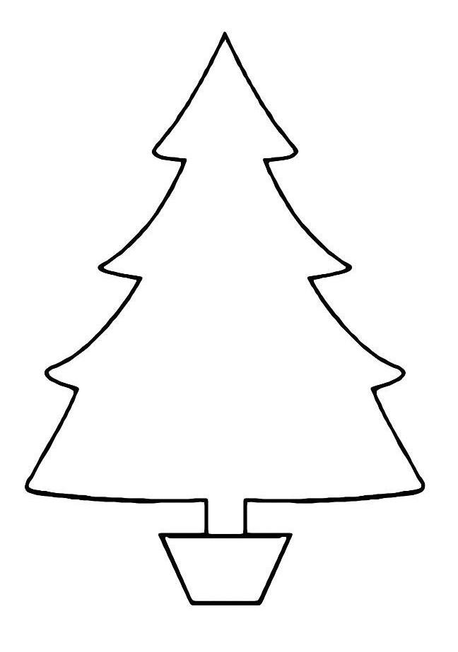 раскраска елочка для маленьких детей распечатать или скачать