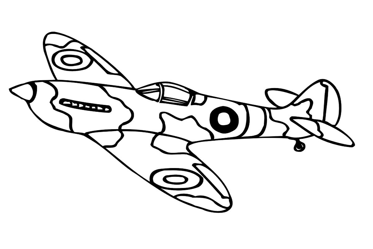 раскраска самолет с военной окраской распечатать или скачать