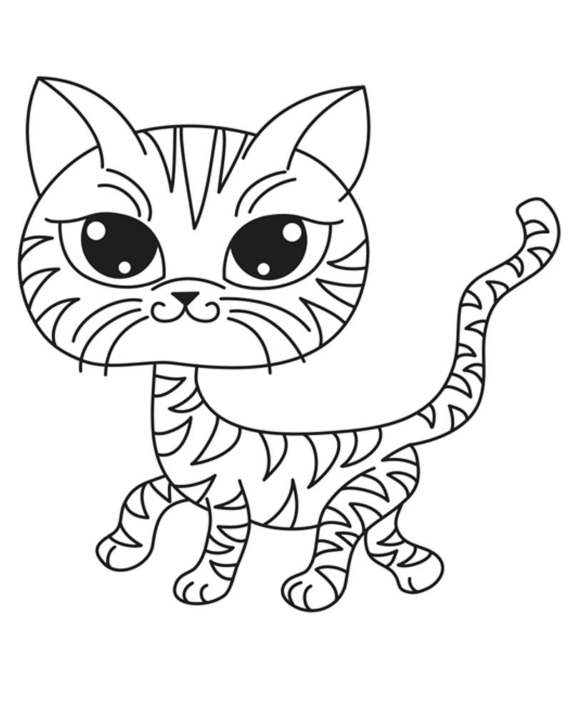 Раскраска Головастый кот распечатать или скачать бесплатно