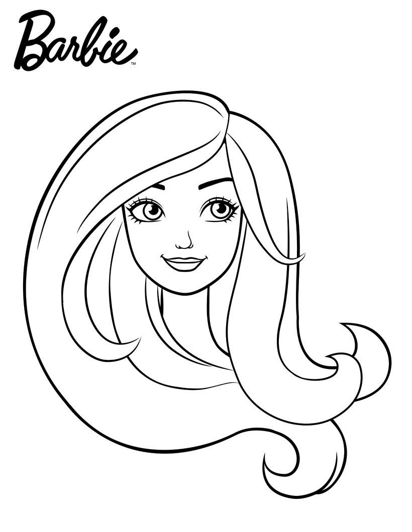 Раскраска Портрет Барби распечатать или скачать бесплатно
