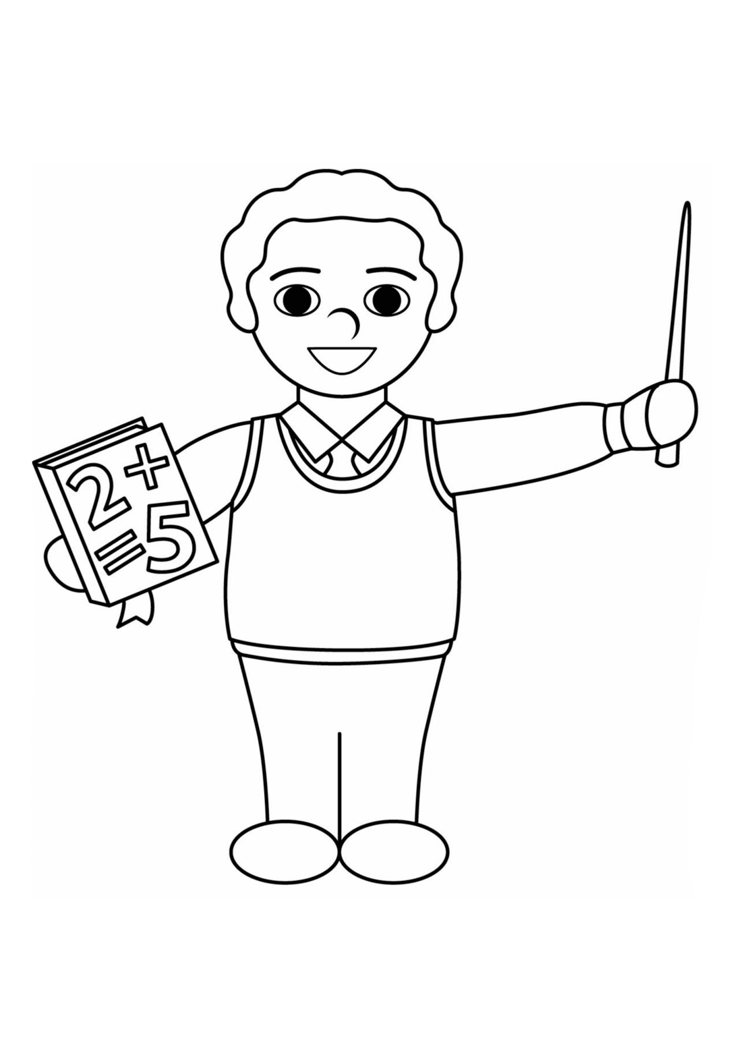 Раскраска Первый учитель распечатать или скачать бесплатно