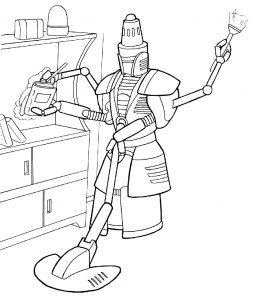 Раскраска Боевой робот с пушкой распечатать или скачать ...