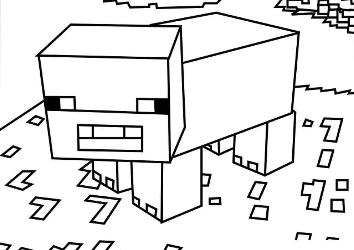 Раскраска Свинья из Майнкрафт распечатать или скачать ...