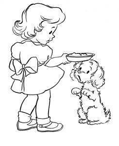 Раскраска Игра двух собак распечатать или скачать бесплатно