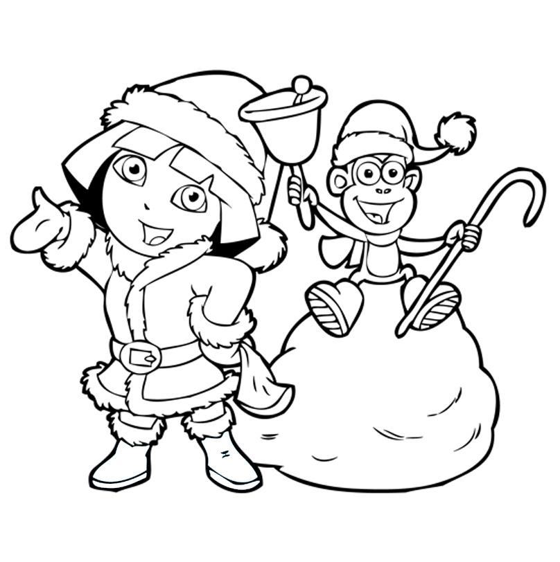 Раскраска Новый год с забавной обезьянкой распечатать или ...