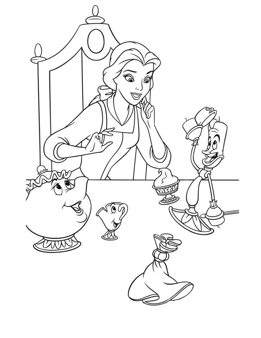 Раскраска Принцесса и сказочные персонажи распечатать или ...