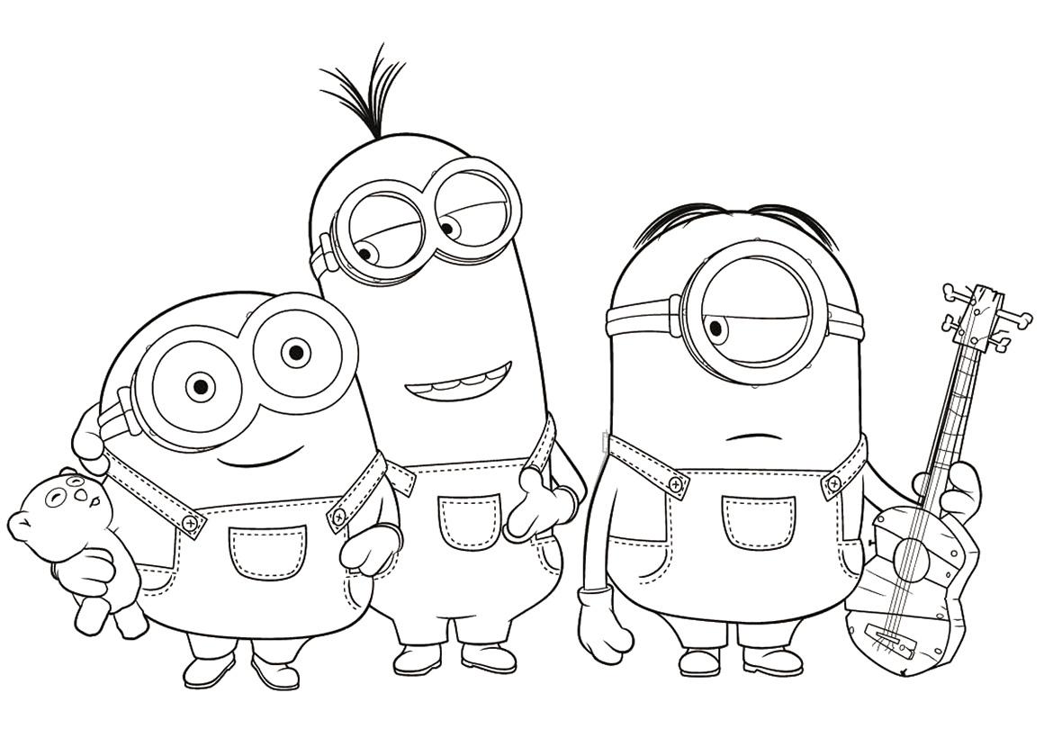 Раскраска Кевин, Стюарт и Боб распечатать или скачать ...
