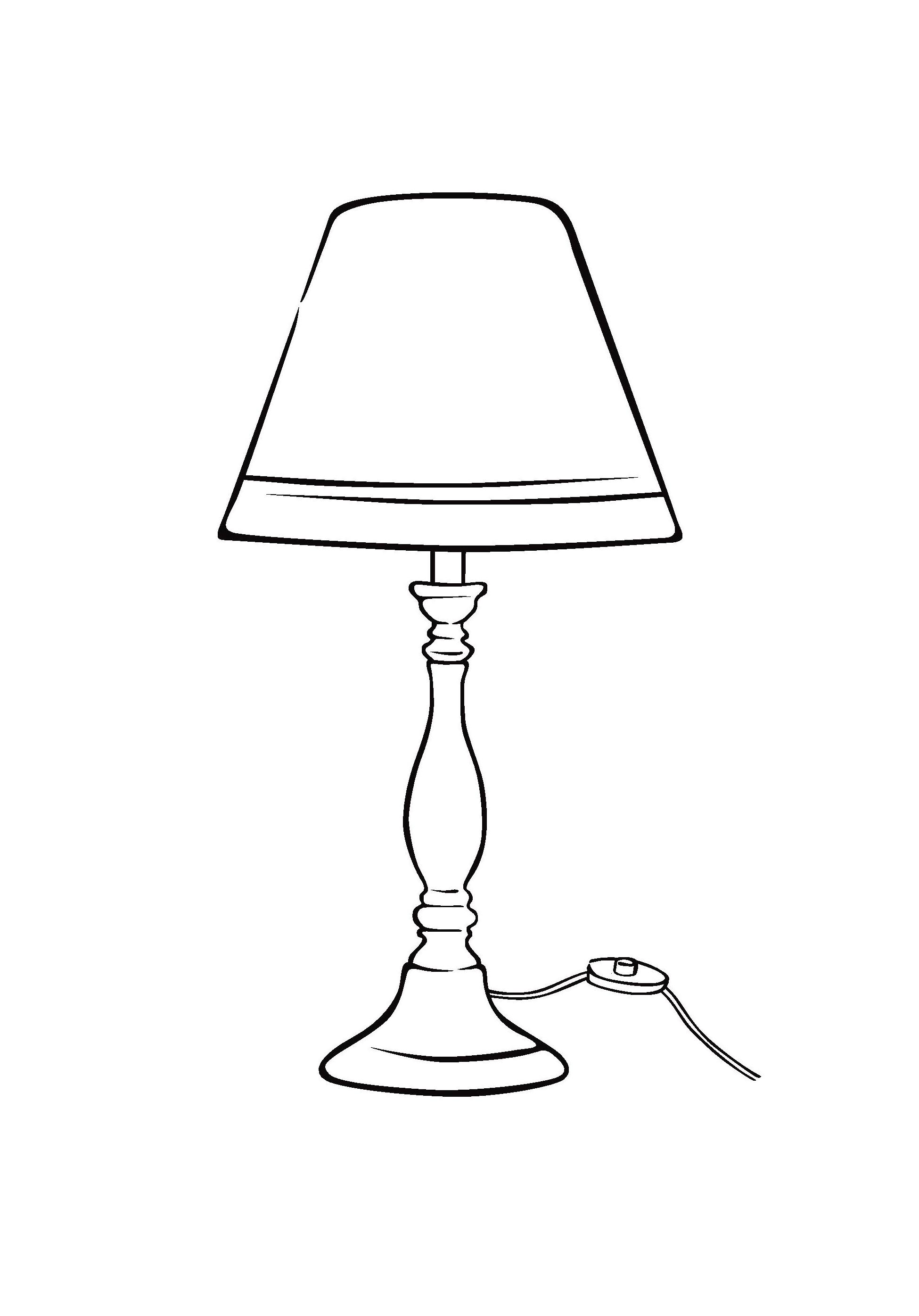 Раскраска Лампа распечатать или скачать бесплатно