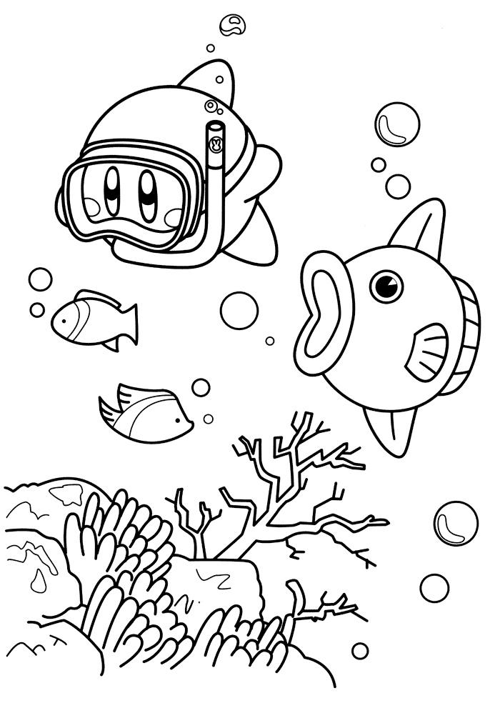 Раскраска Рыба-солнце Кайн распечатать или скачать бесплатно