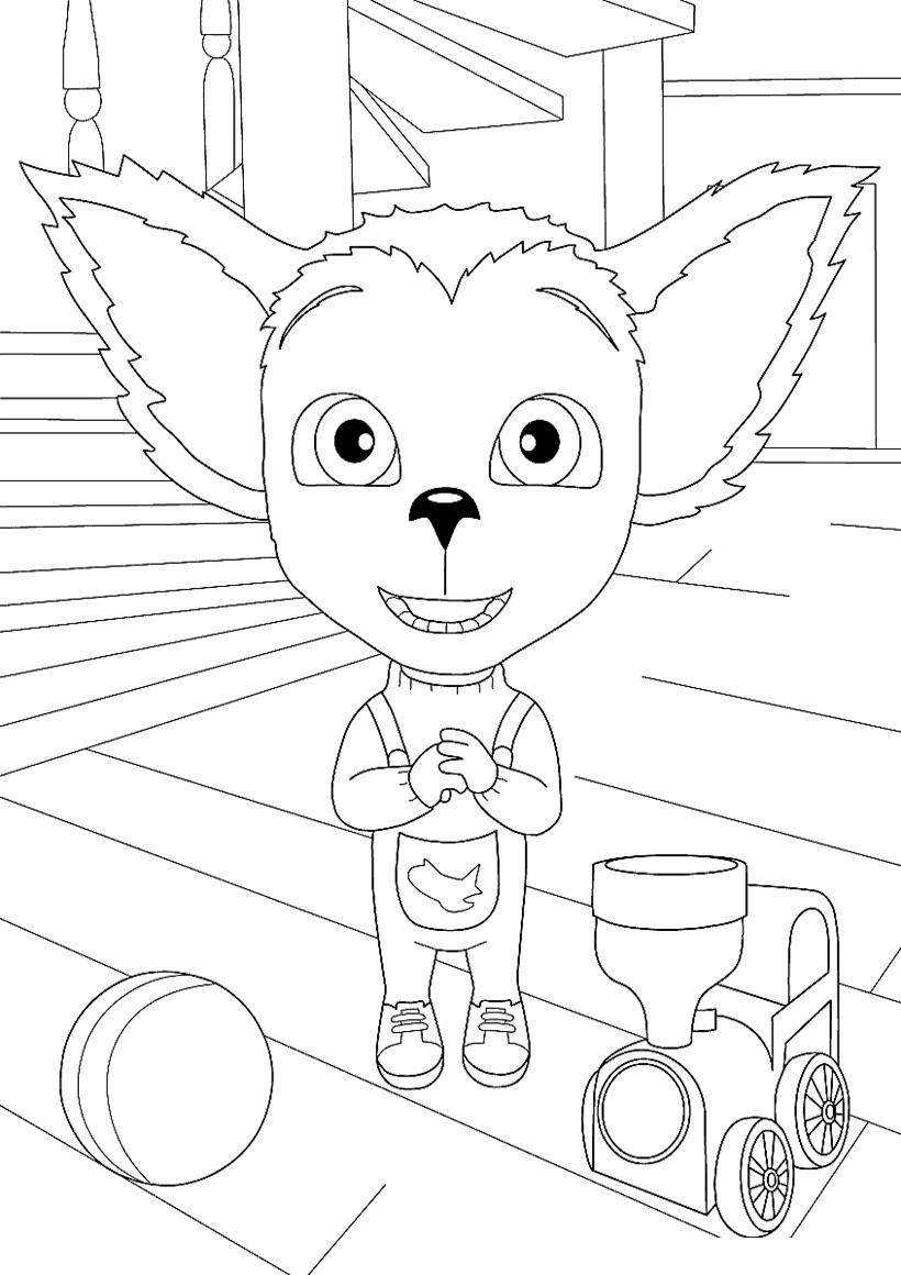Раскраска Малыш Барбоскин с игрушками распечатать или ...