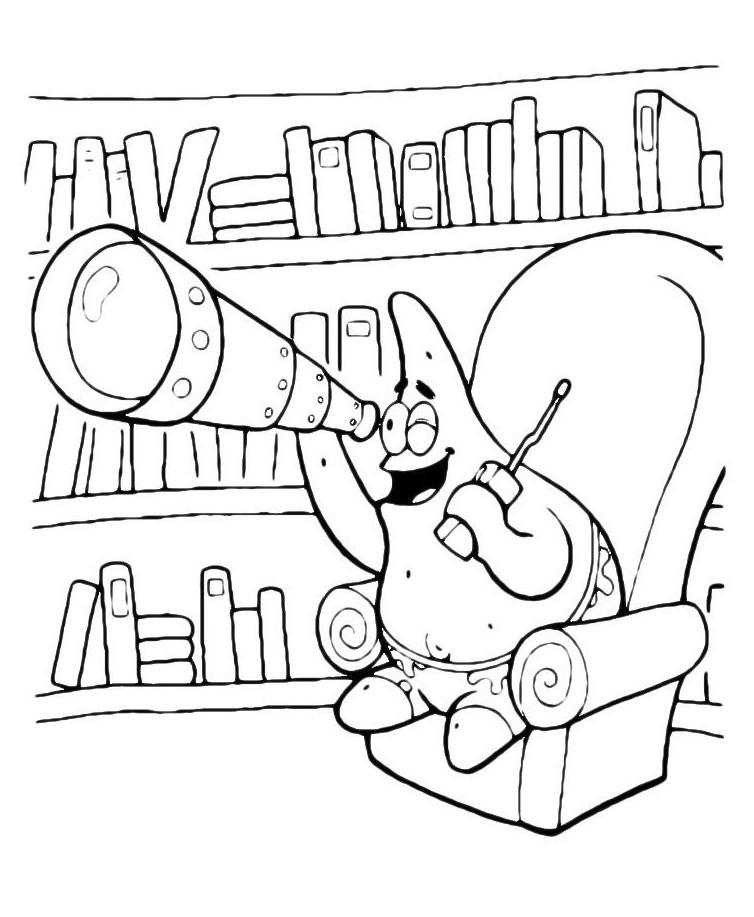 Раскраска Патрик и Губка Боб с сачками распечатать или ...