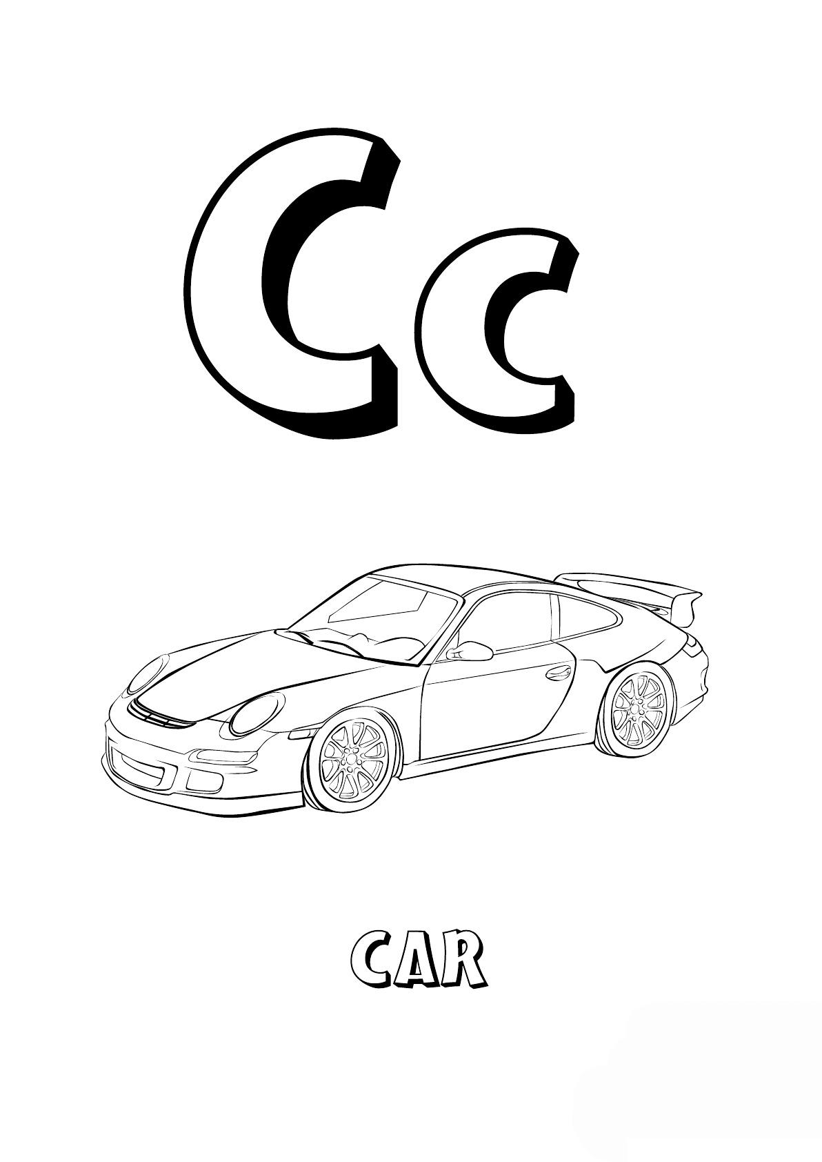 Английский алфавит в картинках для раскраски