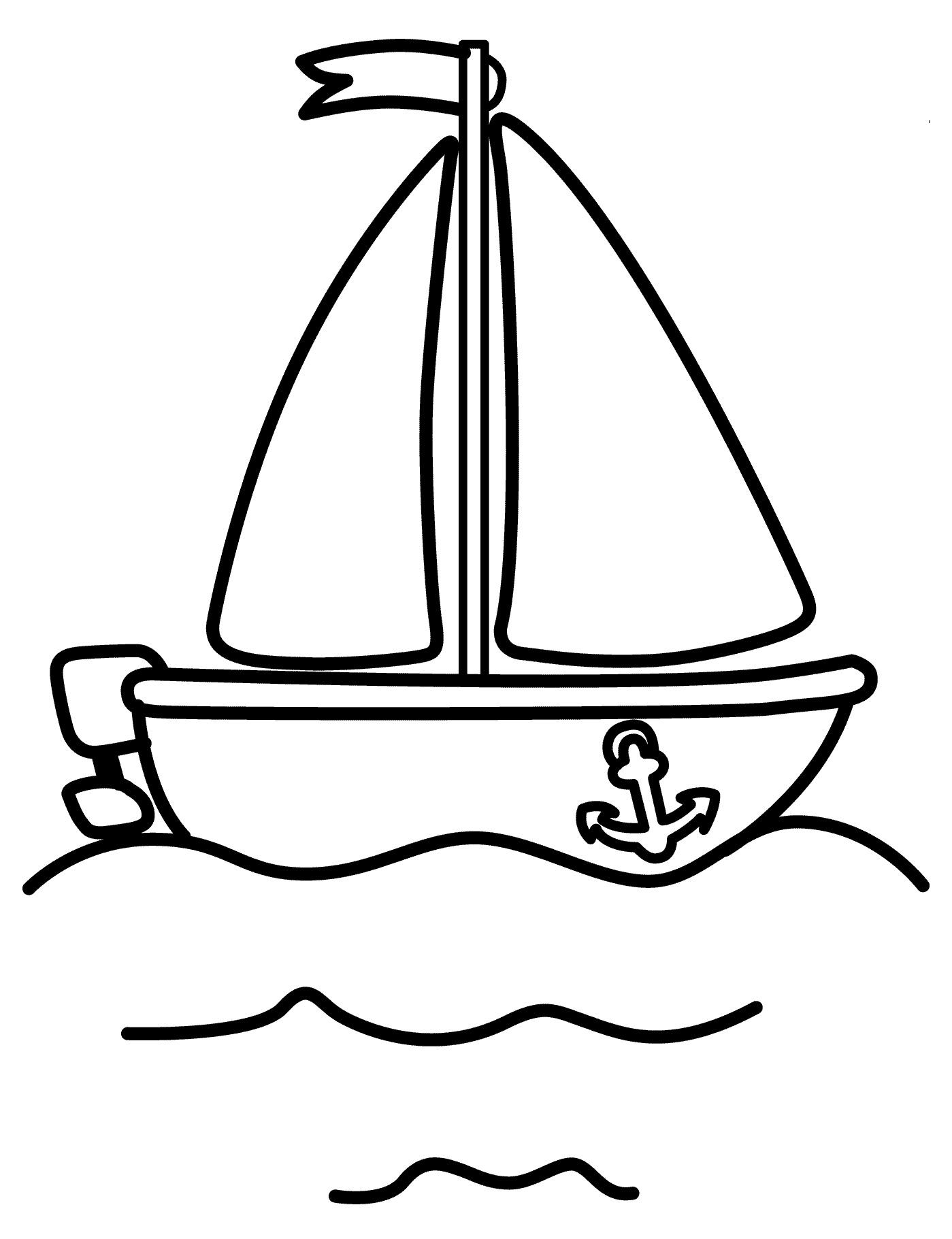 Раскраска Кораблик распечатать или скачать бесплатно