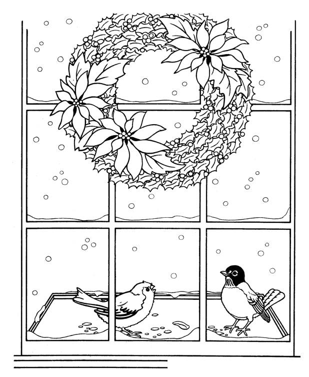Раскраска Праздник Новый год распечатать или скачать бесплатно