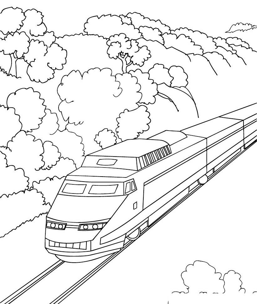 Поезда в картинках раскраски
