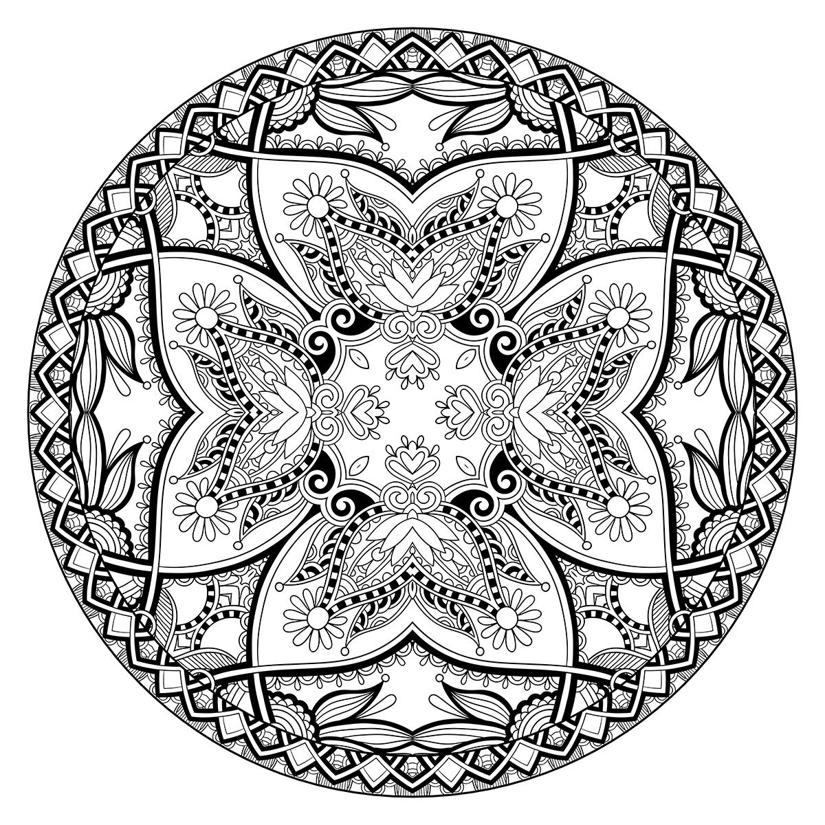 Раскраска Зендала Волшебные цветы распечатать или скачать ...