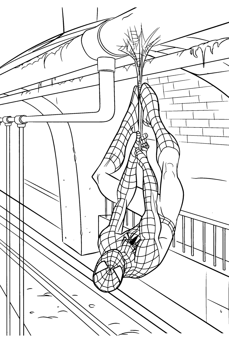 Раскраска Новый Человек паук распечатать или скачать бесплатно