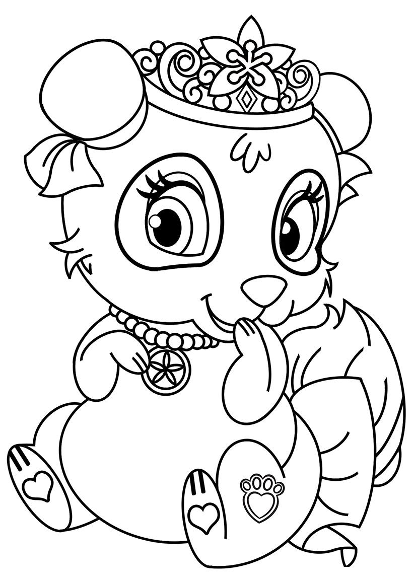 Раскраска Питомец Мулан панда Цветочек распечатать или ...