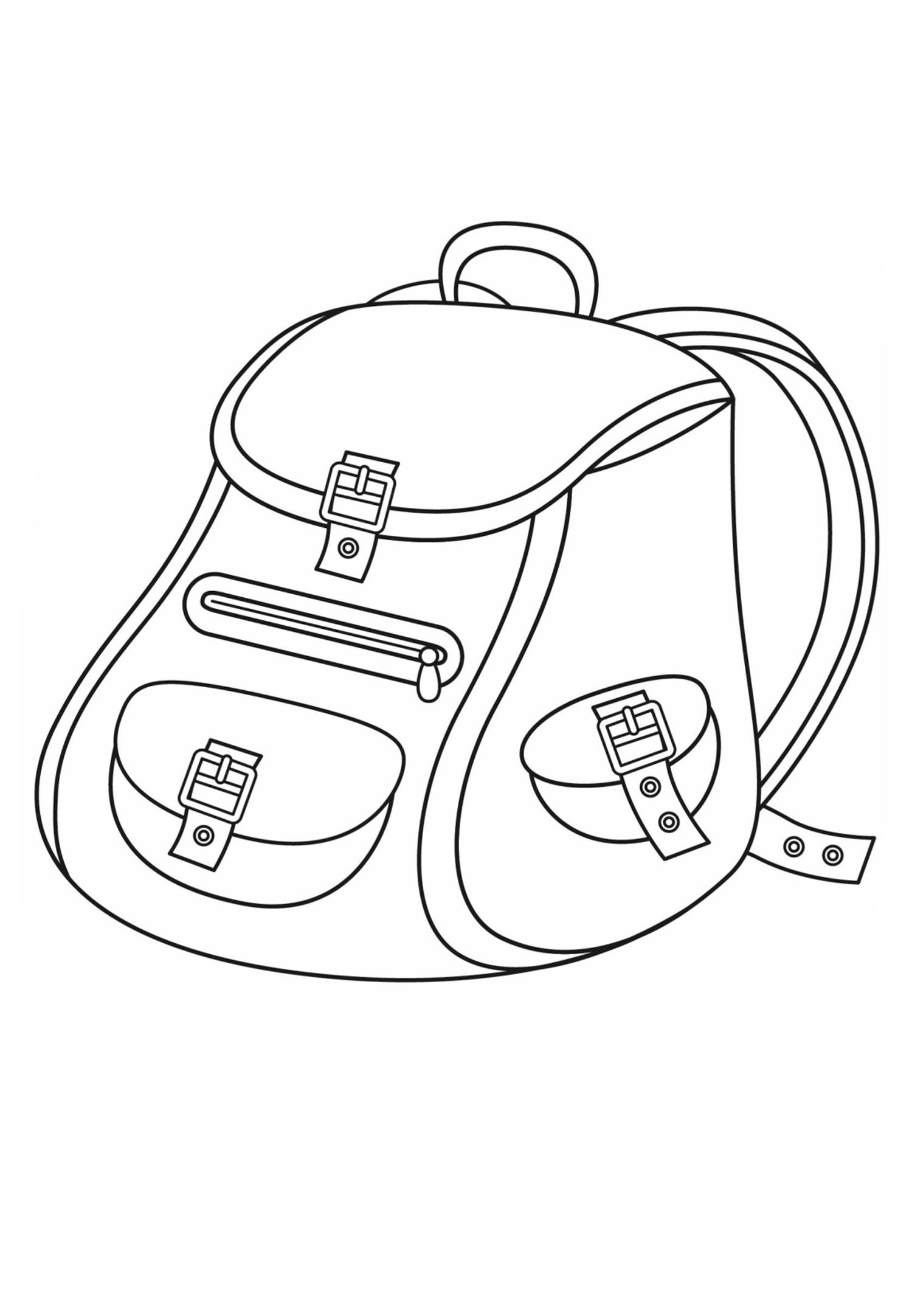 Раскраска Школьный рюкзак распечатать или скачать бесплатно