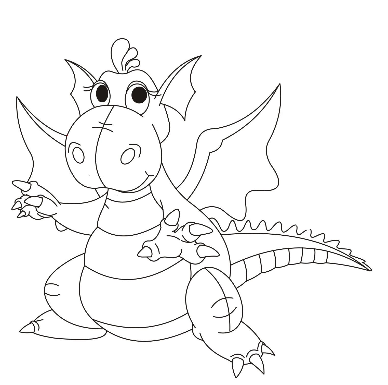 Раскраска Дракон-забавный малыш распечатать или скачать ...