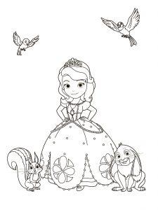 Раскраски Принцесса София распечатать или скачать бесплатно