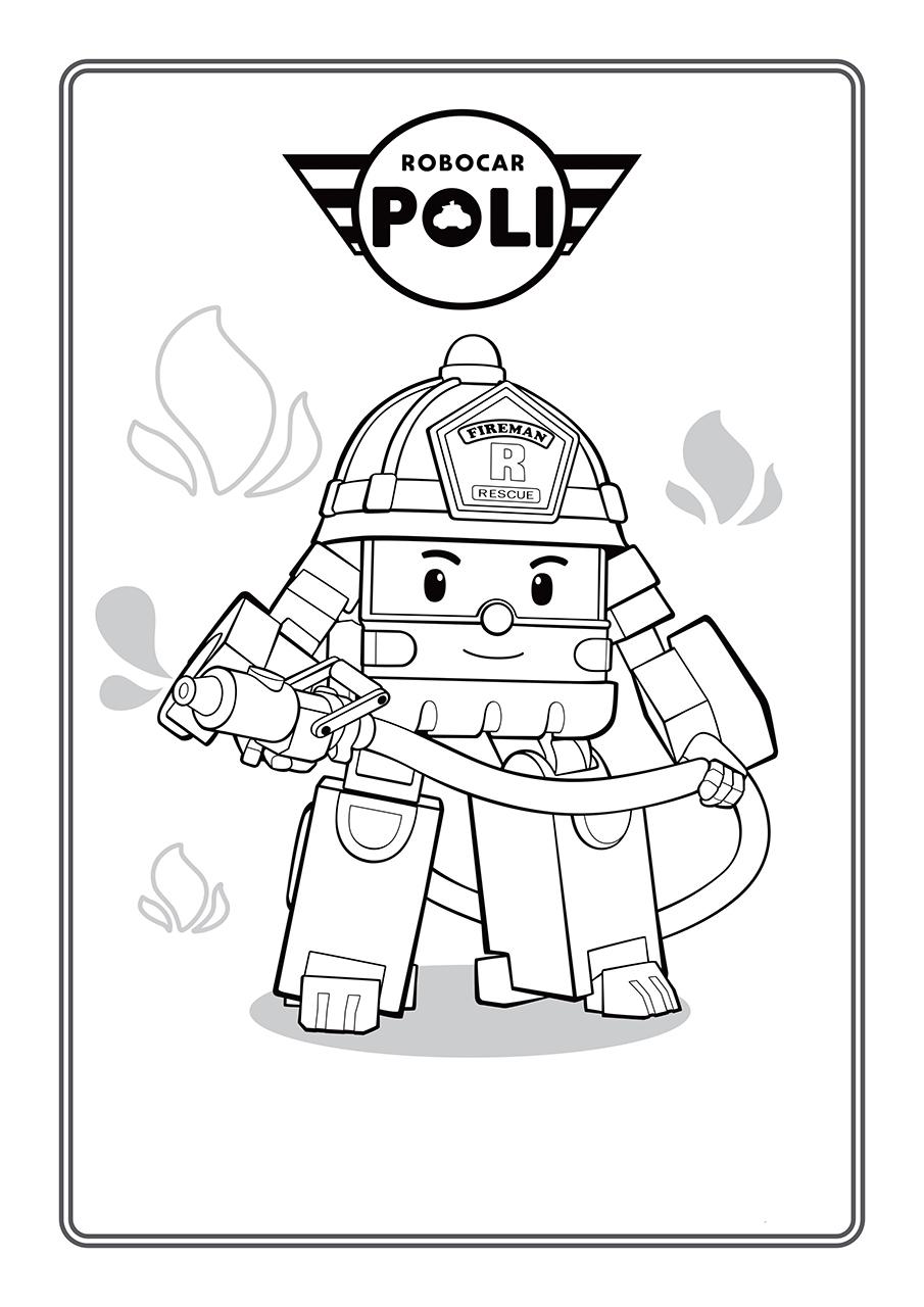 Раскраска Роботрак Рой распечатать или скачать бесплатно
