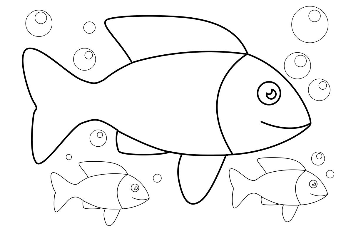 Раскраска Рыбки распечатать или скачать бесплатно