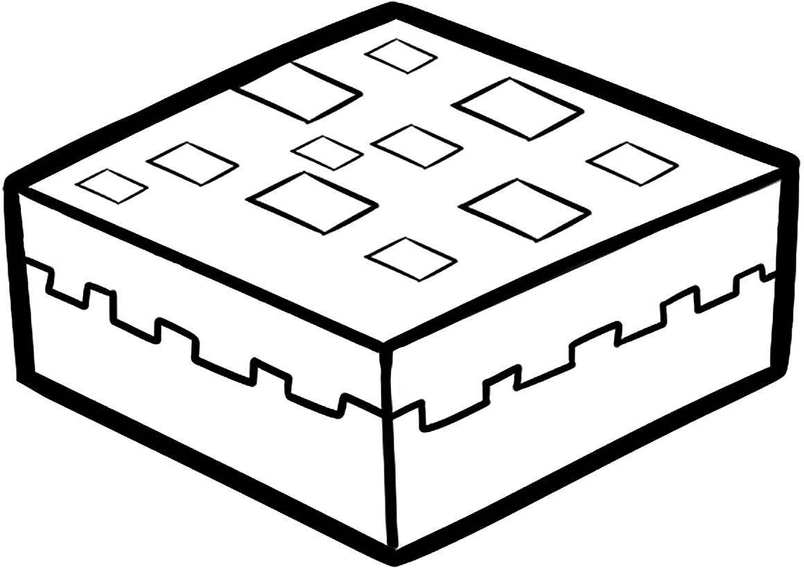 раскраска пирог Minecraft распечатать или скачать бесплатно