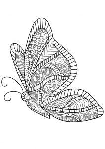 Раскраска Стрекоза с орнаментом распечатать или скачать ...