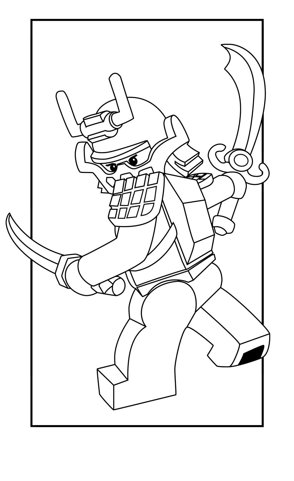 Раскраска Кай самурай распечатать или скачать бесплатно