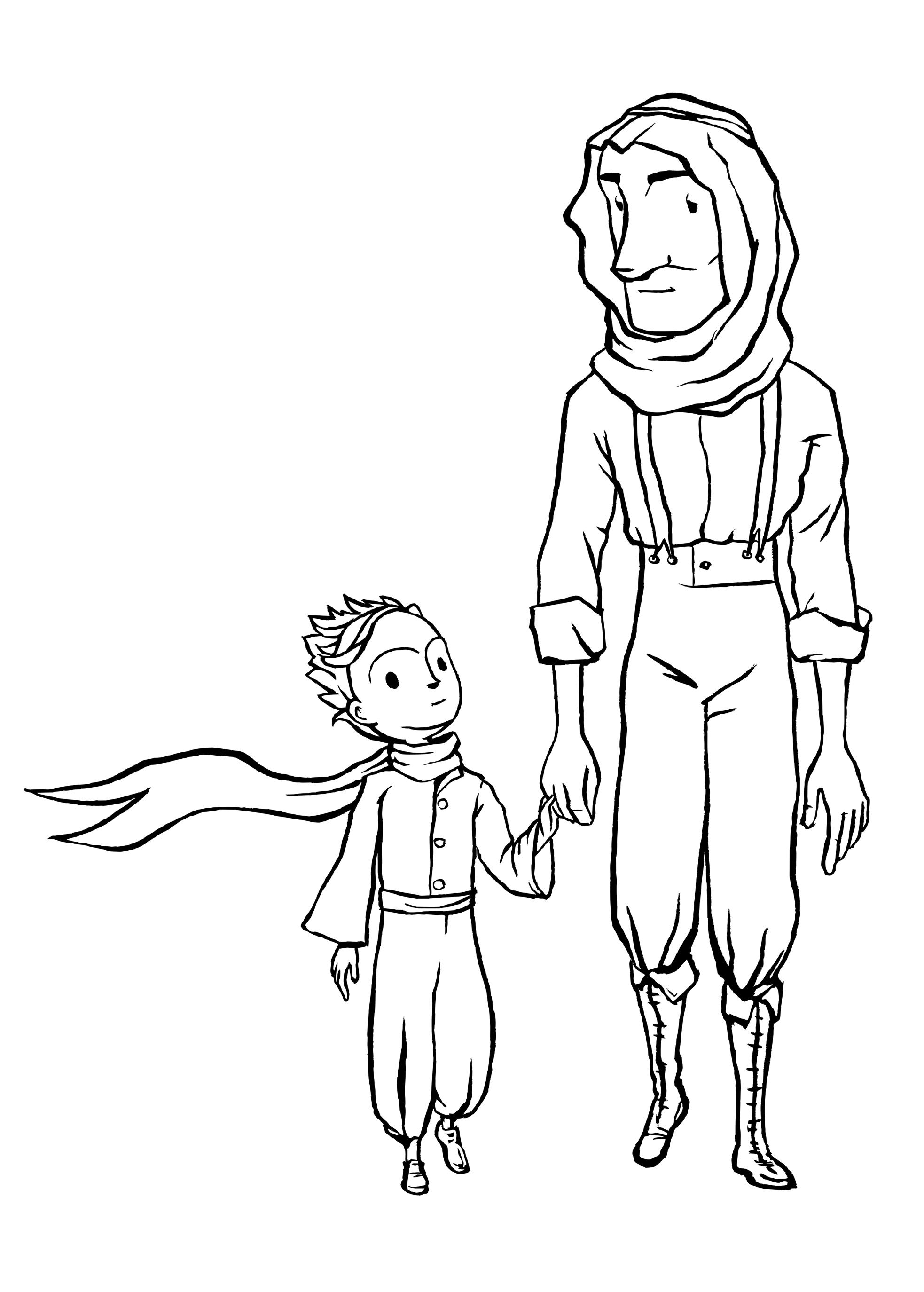 картинки раскраски к маленькому принцу можете скачать бумажный