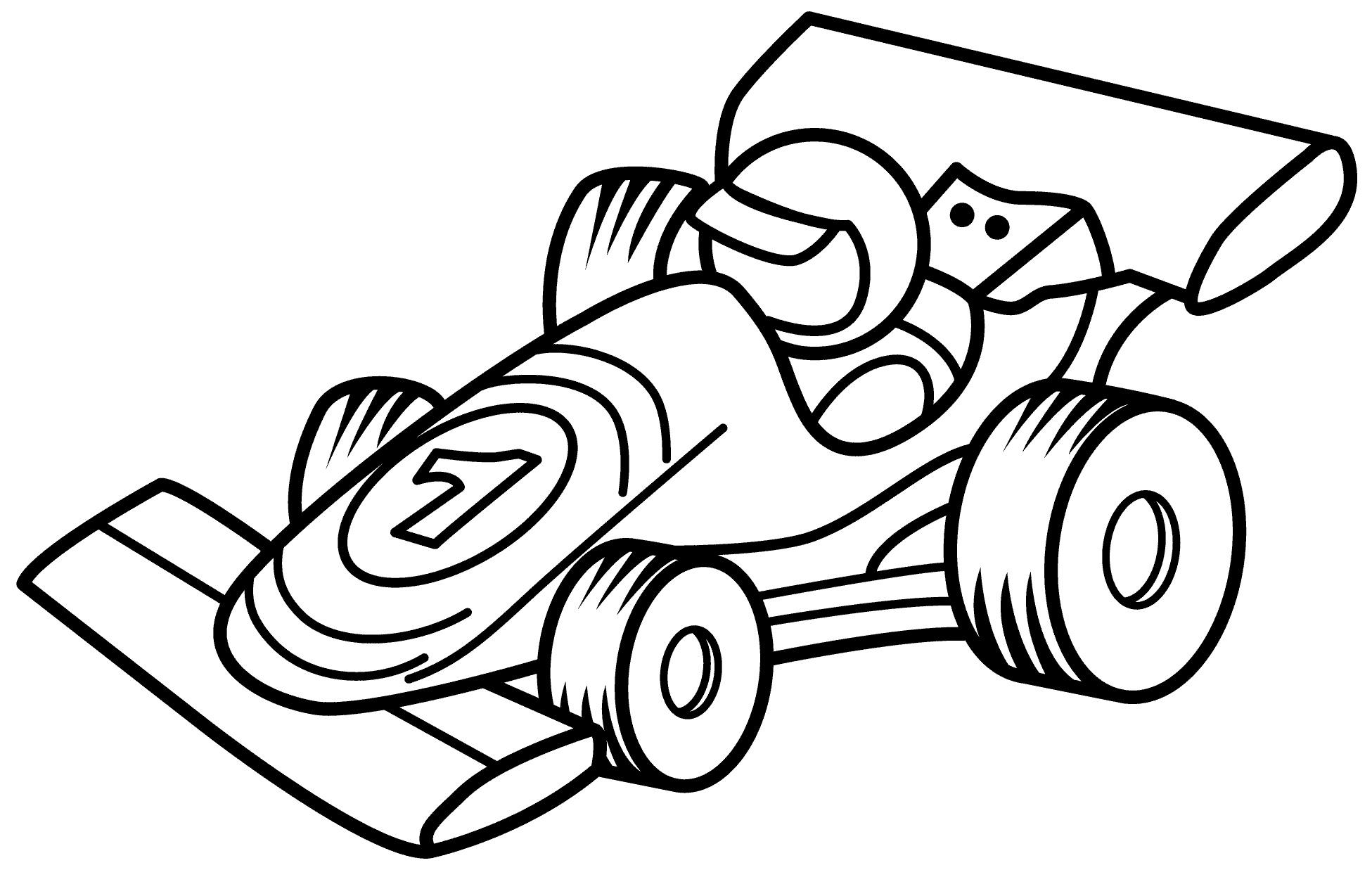 Раскраска Гоночный автомобиль распечатать или скачать ...