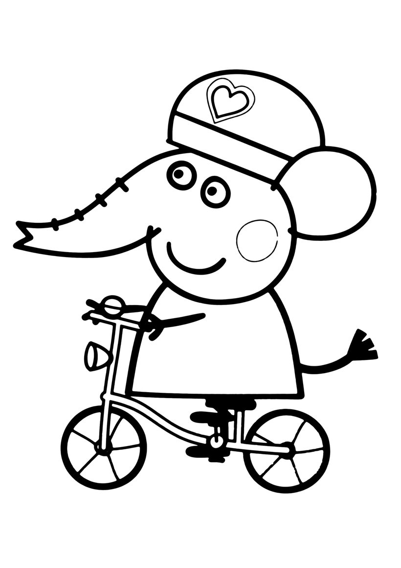 Раскраска Эмили на велосипеде распечатать или скачать ...