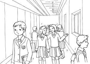 Раскраска Школьный обед распечатать или скачать бесплатно