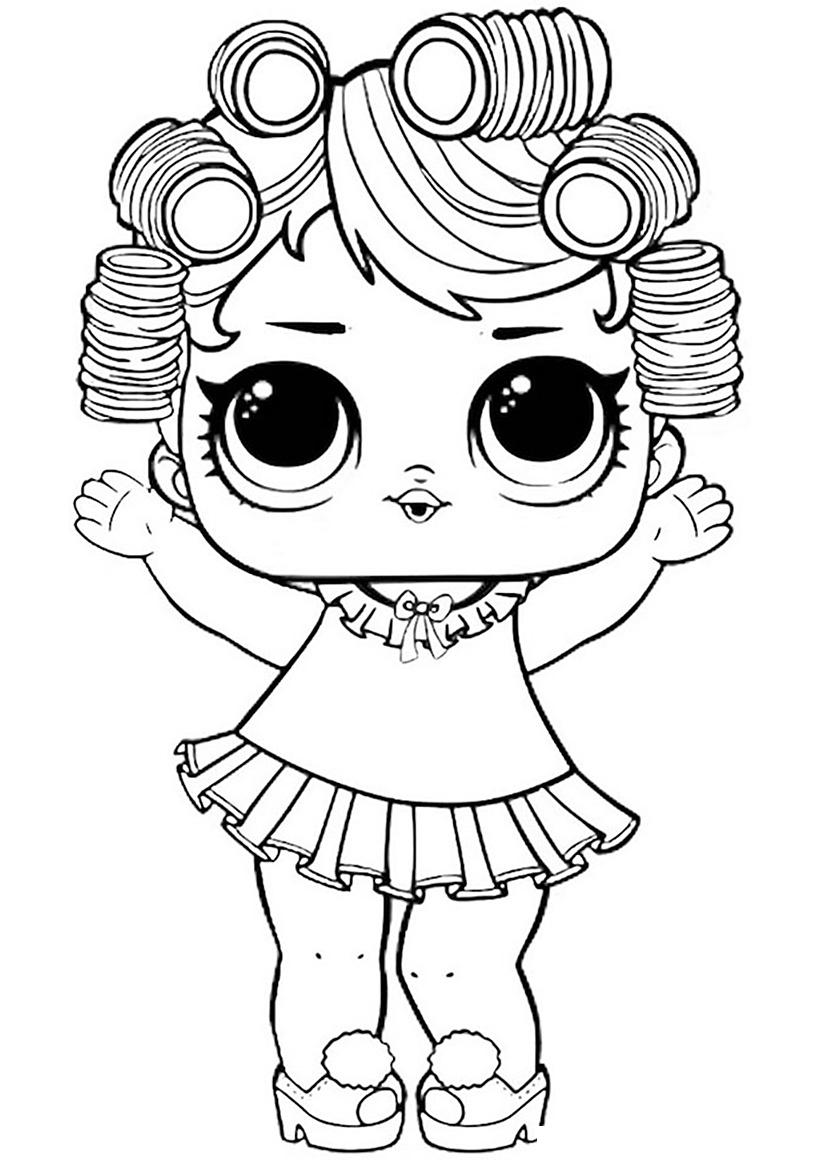 Раскраска ЛОЛ старшая сестричка Куколка распечатать или ...
