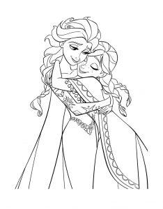 Раскраска принцессы Анна и Эльза распечатать или скачать ...