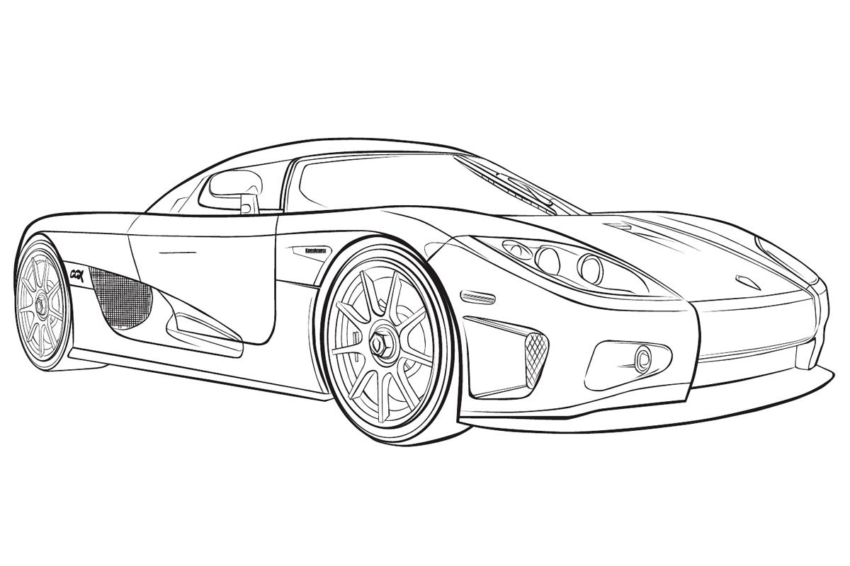 Раскраска Машина Koenigsegg распечатать или скачать бесплатно